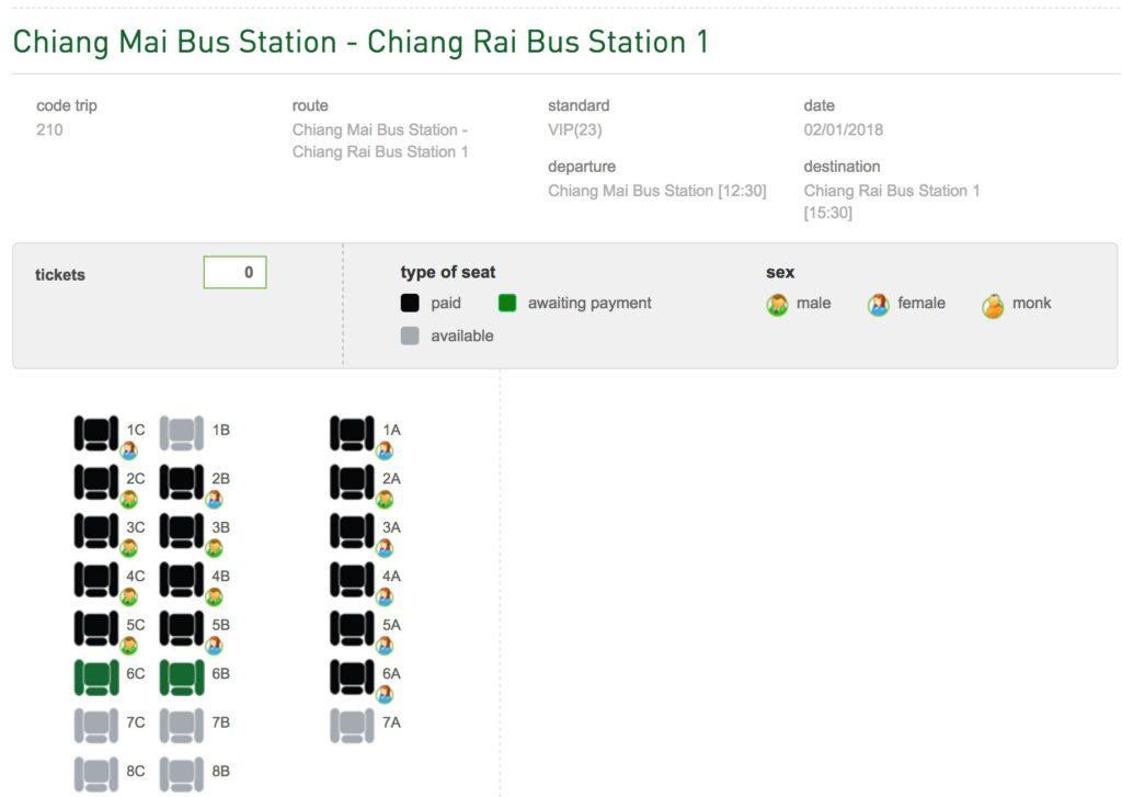 Bus From Chiang Mai to Chiang Rai - Greenbus VIP Service