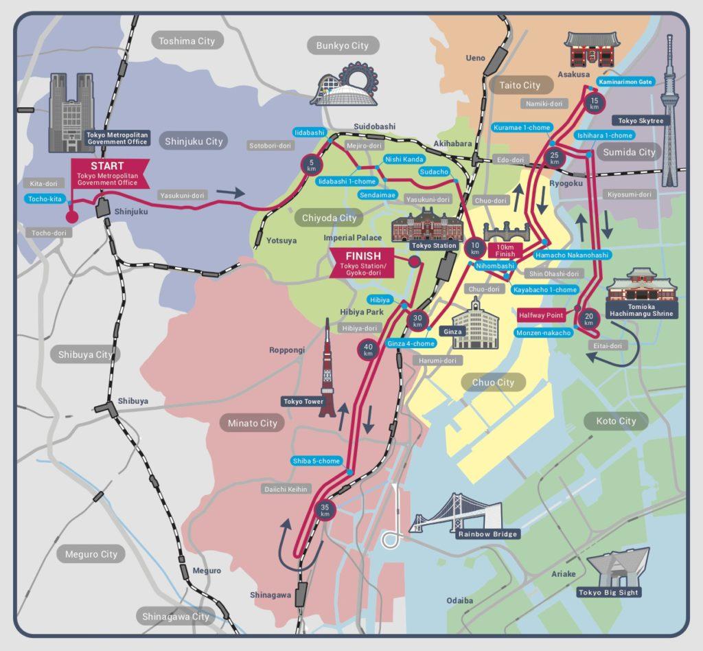 Marathon Subway Map.Tokyo Marathon Race Review 2018 Lattes Runways