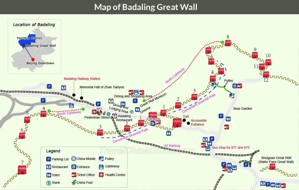 Badaling Site Map